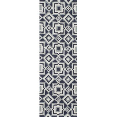 Anwen Hand-Hooked Charcoal Area Rug Rug Size: Rectangle 36 x 56