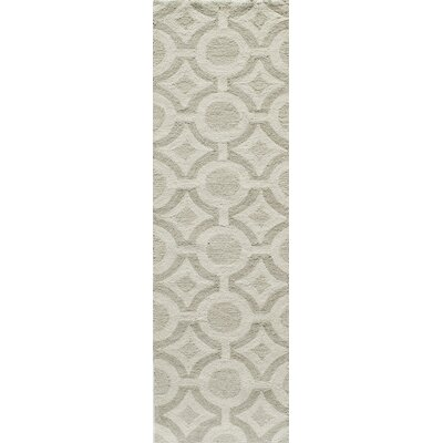 Agnese Hand-Hooked Ivory Area Rug Rug Size: Rectangle 36 x 56