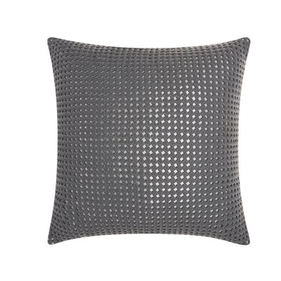 Skyla Leather Throw Pillow Color: Grey / Silver