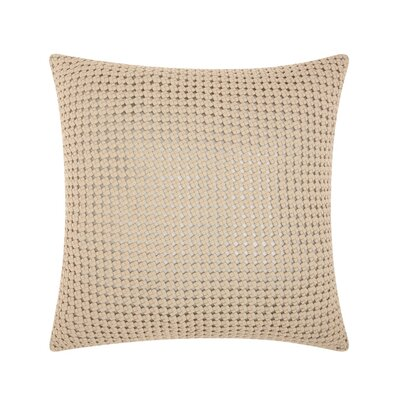 Skyla Leather Throw Pillow Color: White / Silver
