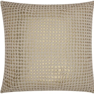 Skyla Leather Throw Pillow Color: White / Gold