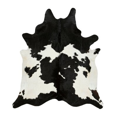 Byron Black & White Cowhide Rug Size: Novelty 6 x 76
