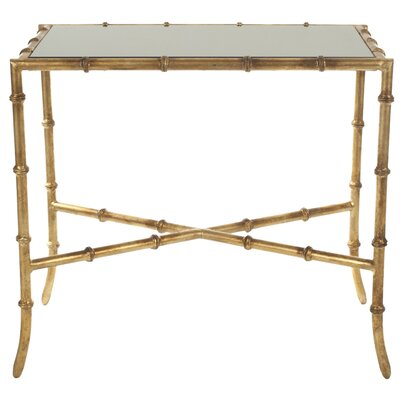Roman Console Table Table Top Finish: Glass