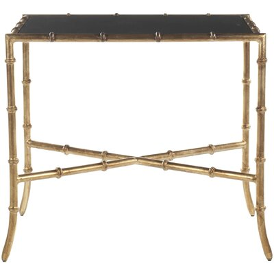 Roman Console Table Table Top Finish: Black Granite