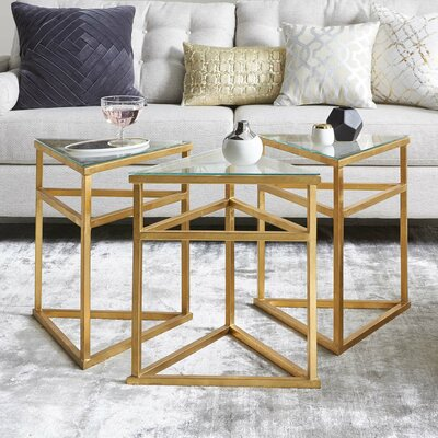 Reynaldo 3 Piece Coffee Table Set