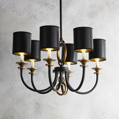 Barton 6-Light Shaded Chandelier