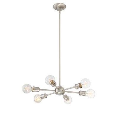 St Helens 6-Light Sputnik Chandelier Finish: Silver
