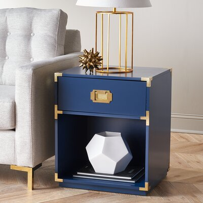 Kelly End Table Color: Navy