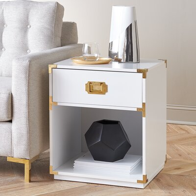 Kelly End Table Color: White