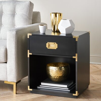 Jarvis End Table Finish: Black