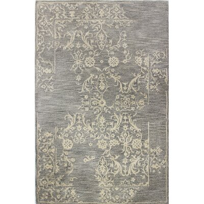 Jallet Hand-Tufted Taupe Area Rug Size: 39 x 59