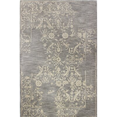 Jallet Hand-Tufted Taupe Area Rug Size: 56 x 86