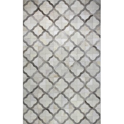 Bengta Hand Woven Gray Area Rug Rug Size: 5 x 8