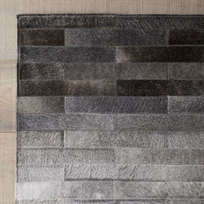 Horley Hand Woven Wool Gray Area Rug Rug Size: 9 x 12