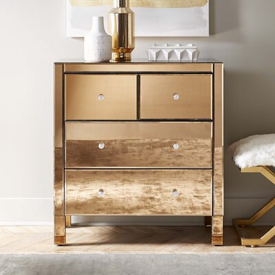 Tessie Mirrored 4 Drawer Dresser