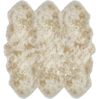 Russ Sheepskin Tan Area Rug Rug Size: Sexto 6 x 6