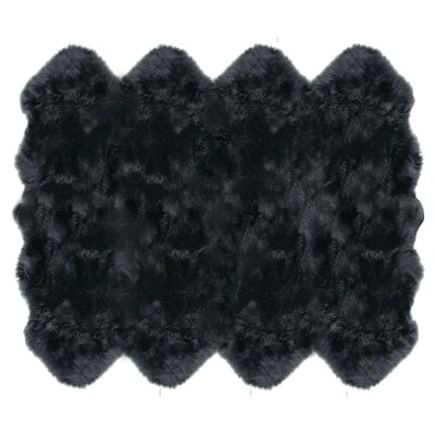 Christofor Sheepskin Steel Area Rug Rug Size: Octagon 6 x 76