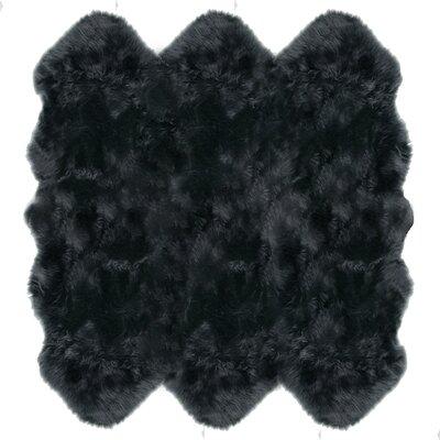 Christofor Sheepskin Steel Area Rug Rug Size: Sexto 6 x 6