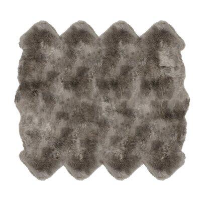 Christofor Sheepskin Vole Area Rug Rug Size: Octagon 6 x 76
