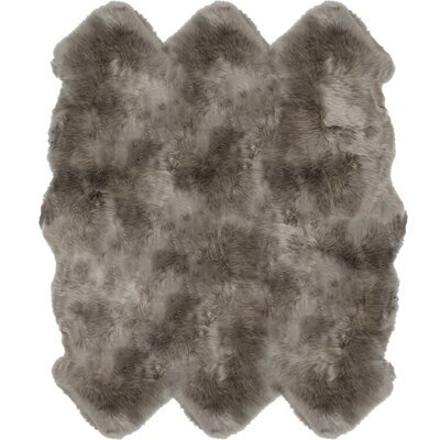 Christofor Sheepskin Vole Area Rug Rug Size: Sexto 6 x 6