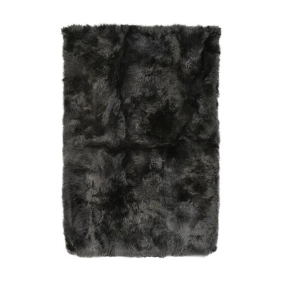 Christofor Sheepskin Longwool Steel Rug Rug Size: Rectangle 56 x 710