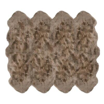 Christofor Sheepskin Taupe Rug Rug Size: Octagon 6 x 76