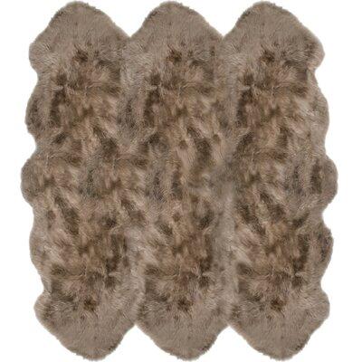 Christofor Sheepskin Taupe Rug Rug Size: Sexto 6 x 6
