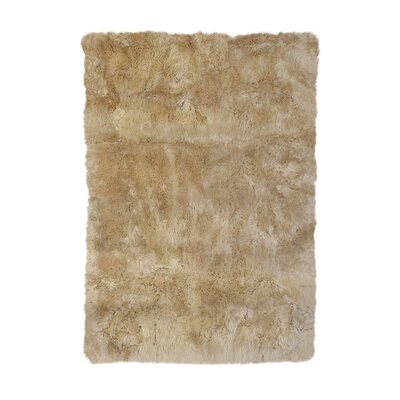Christofor Sheepskin Longwool Linen Rug Rug Size: Rectangle 311 x 511