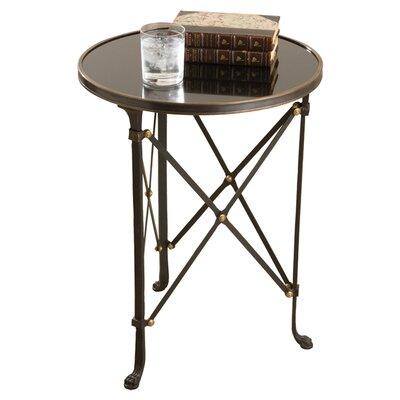 Robillard End Table Color: Iron & Black Granite