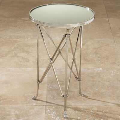 Robillard End Table Color: Nickel & Mirror