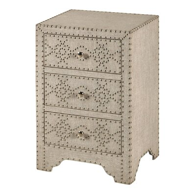 Newbury 3 Drawer Nightstand