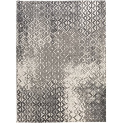 Shive Light Gray/Ivory Area Rug Rug Size: Rectangle 79 x 108