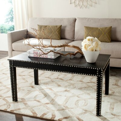 Rocio Coffee Table Color: Black Crocodile