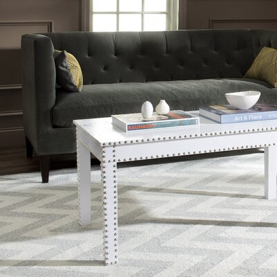 Rocio Coffee Table Color: White Crocodile