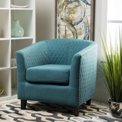 Jallet Fabric Barrel Chair Upholstery: Dark Teal