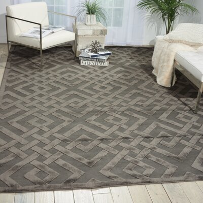 Beaconsfield Silver/Gray Area Rug Rug Size: Rectangle 53 x 73