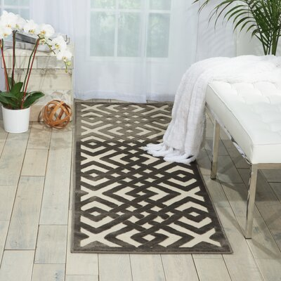 Beaconsfield Ivory/Gray Area Rug Rug Size: Rectangle 53 x 73