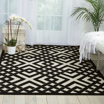 Beaconsfield Black/Ivory Area Rug Rug Size: Rectangle 76 x 96