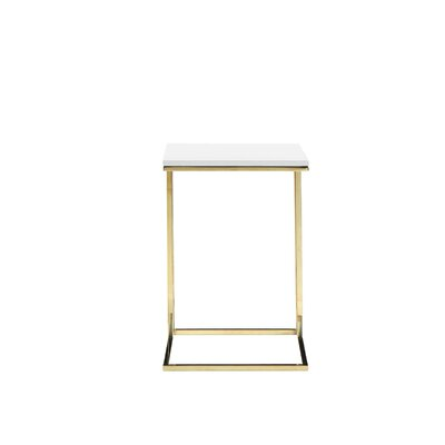 Beery End Table Finish: White/Gold
