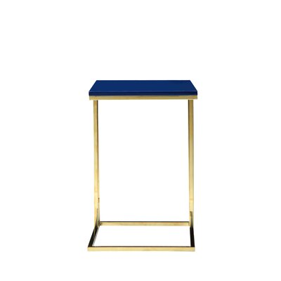 Marcello End Table Color: Navy/Gold