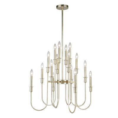 Aldersley 16-Light Candle-Style Chandelier