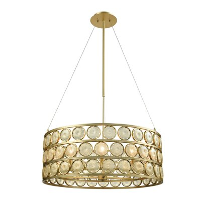 Aldworth 10-Light Drum Pendant