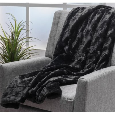 Bartolmeu Throw Blanket Color: Midnight