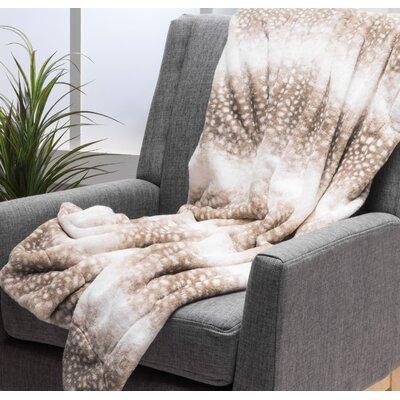 Totnes Throw Blanket Color: Dusty Brown