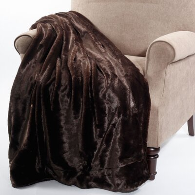 Chatwin Faux Fur Throw Blanket Color: Coffee Bean