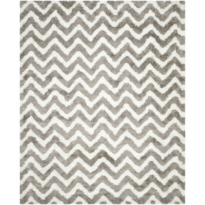 Hempstead White/Silver Area Rug Rug Size: 8 x 10