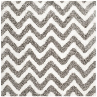 Hempstead White/Silver Area Rug Rug Size: Square 5