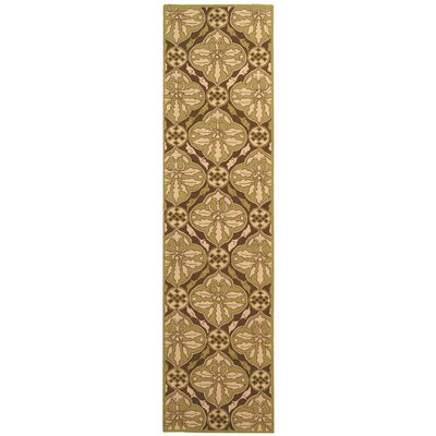 Georgeson Brown / Green Area Rug Rug Size: Runner 26 x 10