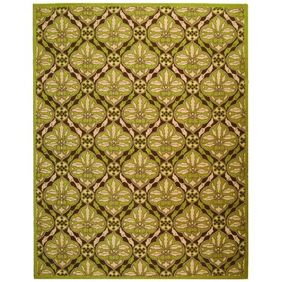 Georgeson Brown / Green Area Rug Rug Size: Rectangle 79 x 99