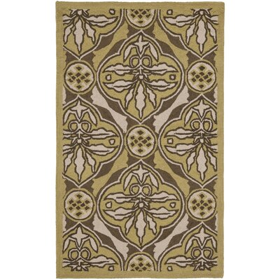 Georgeson Brown / Green Area Rug Rug Size: Rectangle 26 x 4